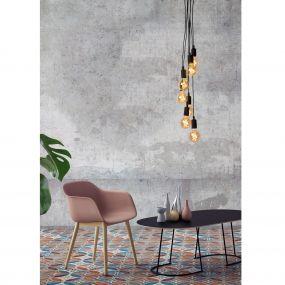 Lucide Fix Multiple - hanglamp - Ø 50 x 130 cm - zwart
