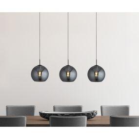 Searchlight Amsterdam - hanglamp - 146 x 30 x 240 cm - zwart