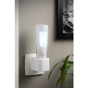 Lucide Bo - nachtlamp met diverse functies - 4,5 x 4,5 x 14,5 cm - 1,42W LED incl. - wit
