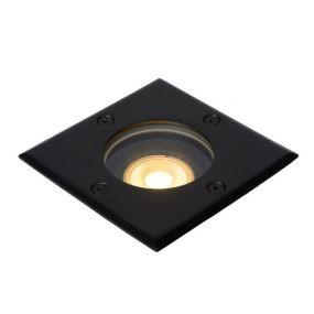 Lucide Biltin vierkant - grondspot voor buiten - 108 mm x 108 mm - 104 mm inbouwmaat - IP67 - zwart