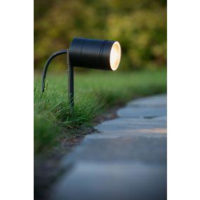 Lucide Arne - grondspot op piek - Ø 6,3 x 36 cm - 5W LED incl. - IP44 - zwart