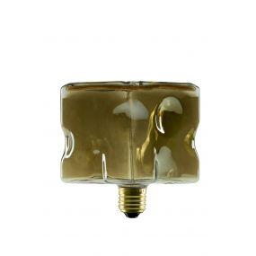 Segula LED lamp - Floating Line Ice Cube -  12,5 x 12,5 cm - E27 - 8W dimbaar - 2200K - gerookt