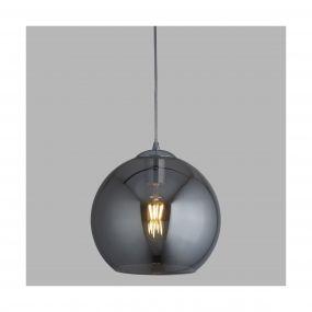 Searchlight Balls - hanglamp - Ø 35 x 120 cm - gerookt glas