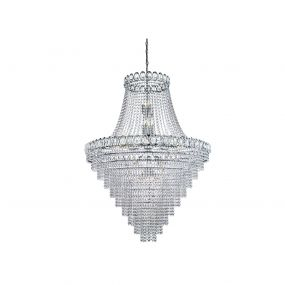 Searchlight Louis Philipe - luster - Ø 100 x 195 cm - chroom