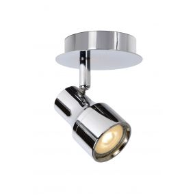 Lucide Sirene 1 - opbouwspot - 10 x 14 x 10 cm - 4,5W dimbare LED incl. - IP44 - chroom