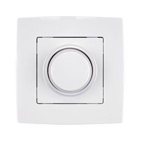 Elmark City - LED enkelpolige draaiknopdimmer - 3 tot 300 watt LED - wit