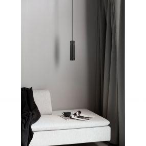 Nordlux Tilo - hanglamp - Ø 6 x 224,6 cm - zwart