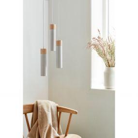Nordlux Tilo - hanglamp - 22 x 6 x 224,6 cm - grijs