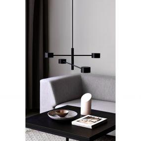 Nordlux Clyde - hanglamp - 89,6 x 8,5 x 222,3 cm - 3 stappen dimmer - 4 x 5W LED incl. - zwart