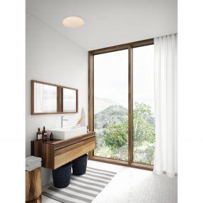 Nordlux Montone - badkamer plafondverlichting - Ø 36 x 10 cm - 18W LED incl. - IP44 - wit