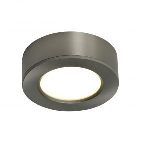 Nordlux Kitchenio - set van 3 - kastverlichting - Ø 6,4 x 2,1 cm - 2W LED incl. - geborsteld nikkel