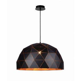 Lucide Otona - grote hanglamp -  Ø 60 x 160 cm - zwart