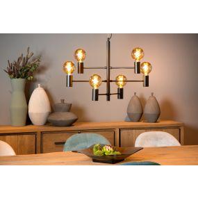 Lucide Leanne - hanglamp - 65 x 32 x 175 cm - zwart