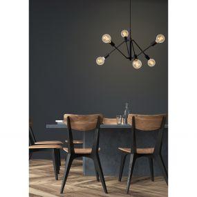 Lucide Lester - hanglamp - Ø 50 x 150 cm - zwart