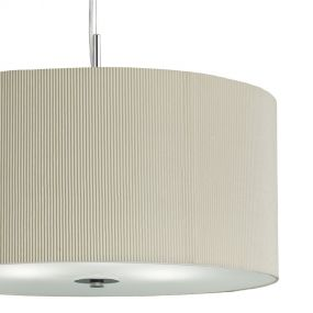 Searchlight Drum Pleat - hanglamp - Ø 60 x 108 cm - crème