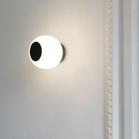 Faro Moy - plafond/wandverlichting - Ø 14 x 13 cm - IP44 - opaal