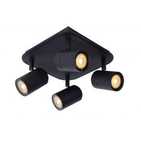 Lucide Lennert - opbouwspot - 22 x 22 x 12,5 cm - 4 x 5W dimbare LED incl. - IP44 - zwart