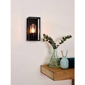 Lucide Carlyn - wandverlichting - 12,6 x 12,5 x 25 cm - IP54 - zwart