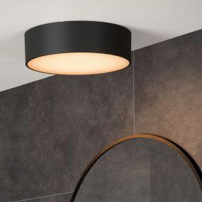 Lucide Roxane - plafondverlichting - Ø 25 x 7,1 cm - 10W LED incl. - IP54 - antraciet