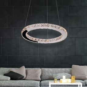 Maxlight Prezzio - hanglamp - Ø 60 x 150 cm - 24 x 1W LED incl. - chroom
