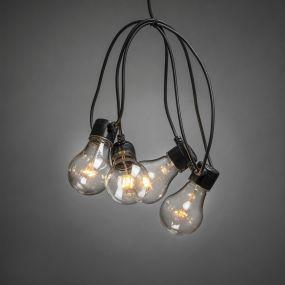 Konstsmide - decoratieve party lichtset met dimfunctie - 9,5m lengte met 10m snoer - 20 LED lampen - IP44 - zwart