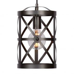 Lucide Castello I - hanglamp - Ø 22 x 125 cm - ijzergrijs (laatste stuk!)
