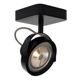 Lucide Tala 1 - opbouwspot - 12 x 20 x 12 cm - 12W dimbare LED incl. - zwart