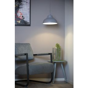 Lucide Isla - hanglamp - Ø 29 x 122 cm - grijs