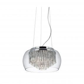 Searchlight Curva - hanglamp - Ø 35 x 80 cm - chroom