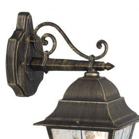 Brilliant Jassie II - buiten wandlamp - 18 x 26,5 x 44 cm - zwart goud