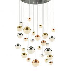 Searchlight Planets - hanglamp - Ø 97 x 300 cm - 27 x 7W dimbare LED incl. - multicolour