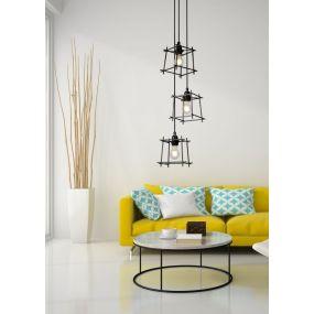 Lucide Edgard - hanglamp -  Ø 28 x 147 cm - zwart