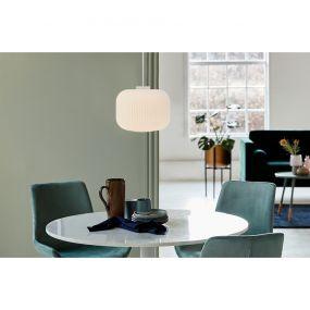 Nordlux Milford - hanglamp - Ø 30 x 323,5 cm - wit