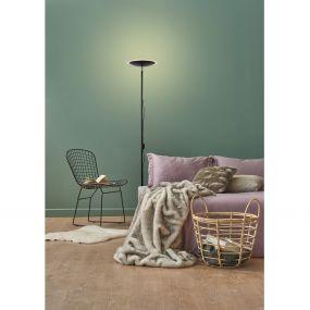 Lucide Prymus - staanlamp - Ø 30 x 180 cm - 20W LED incl. - zwart (einde reeks)