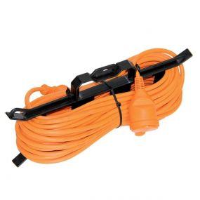 Elmark - verlengkabel op kabelhouder - 15 meter - met randaarde - 3x1,5mm² - oranje
