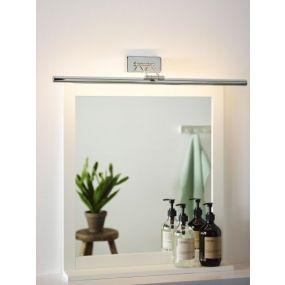 Lucide Gavin - kantelbare spiegellamp - 63 cm - 12W LED incl. - IP21 - chroom