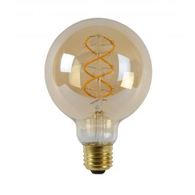 Lucide LED filament lamp - Ø 9,5 x 13,8 cm - E27 - 5W dimbaar - 2200K - amber