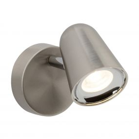 Brilliant Nifty - opbouwspot - 8 x 12,5 x 8 cm - 4W LED incl. - satijn chroom