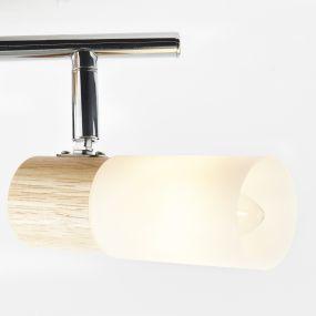 Brilliant Babsan - opbouwspot 2L - 28 x 12 x 18 cm - hout / wit