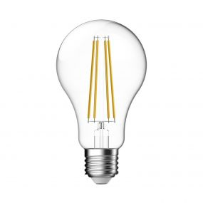 LED filament lamp - Ø 7 cm - E27 - 11W  niet dimbaar - 2700K - transparant