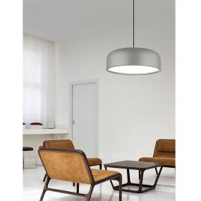 Nova Luce Perleto - hanglamp - Ø 48 x 133 cm - grijs
