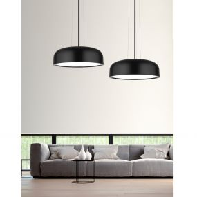 Nova Luce Perleto - hanglamp - Ø 48 x 133 cm - zwart