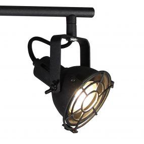Brilliant Jesper - opbouwspot 4L - 68 x 15 x 19,5 cm - 4 x 4W LED incl. - zwart korund