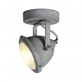 Brilliant Carmen - opbouwspot 1L - 11 x 17 x 11,5 cm - 4W LED incl. - betongrijs
