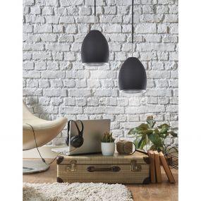 Nova Luce Piccolo - hanglamp - Ø 17 x 120 cm - mat zwart