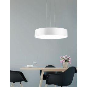 Nova Luce Roda - hanglamp - Ø 60 x 120 cm - 46W LED incl. - wit