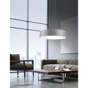 Nova Luce Roda - hanglamp - Ø 60 x 120 cm - 46W LED incl. - grijs