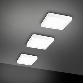 Nova Luce Surface - plafondverlichting - 23 x 23 x 3 cm - 18W LED incl. - wit - witte lichtkleur