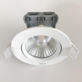 Nordlux Apollo - set van 5 - 4,8W LED incl. - Ø 85 mm, Ø 72 mm inbouwmaat - IP23 - witte lichtkleur - wit