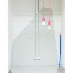 Nova Luce Swing - hanglamp - Ø 4,5 x 100 cm - roze